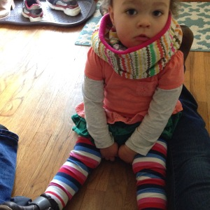 Don't underestimate the effort and sweat that goes into putting pants on a toddler.