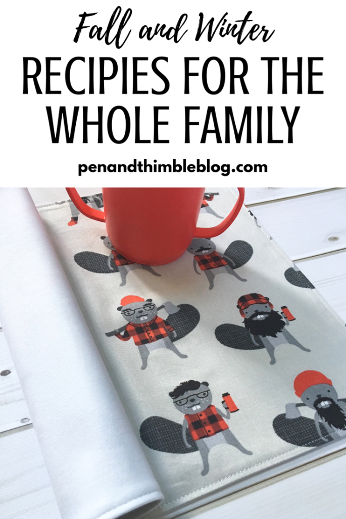 Family recipes, pen and thimble, feeding kids, feeding toddlers, quick meals