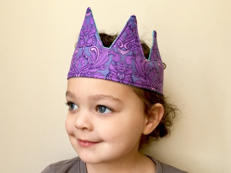 purple fabric crown by pen&thimble