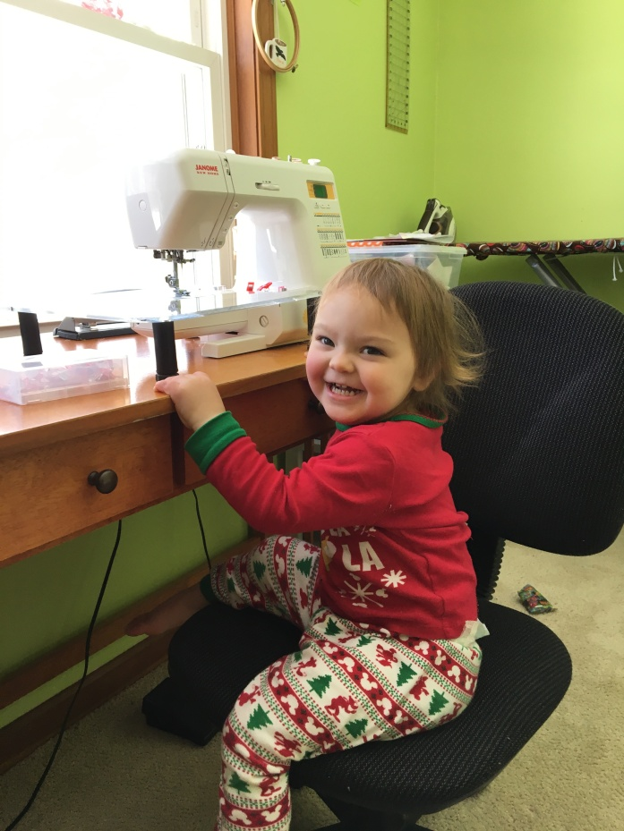 smiles in the sewing desk