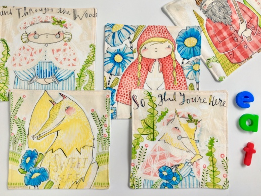 napkins set for kids, housewarming gift, small napkins