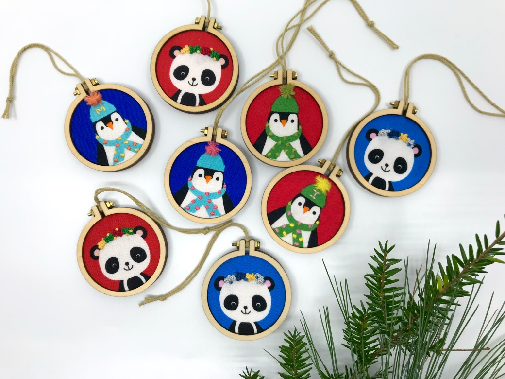 So Fun! Bright and Customizable Mini Ornaments by pen&thimble
