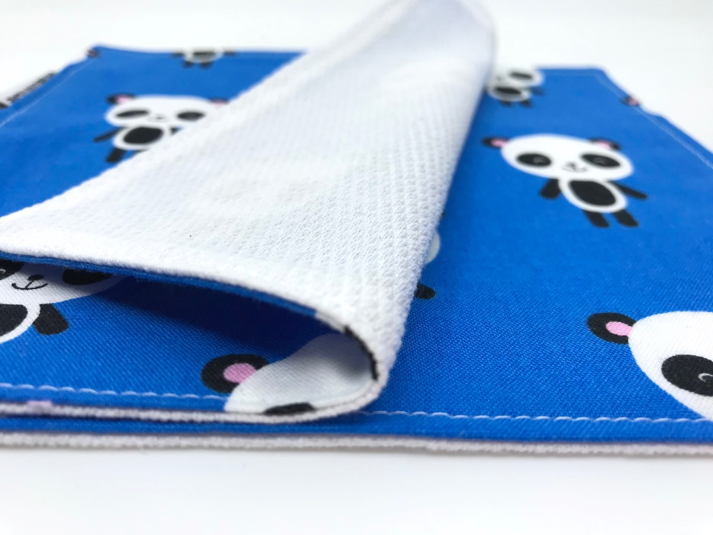 blue panda cloth napkin by pen&thimble