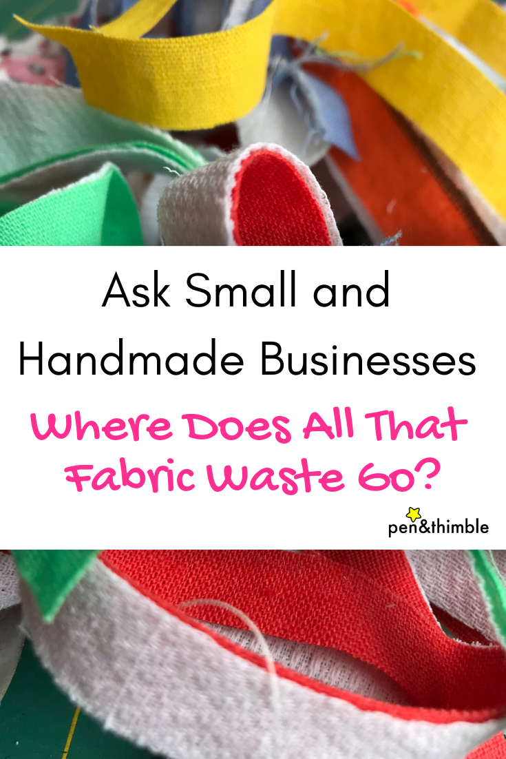 10.5 million tons of textiles ended up in US landfills in 2015, according to epa.com. Ask Small and Handmade Businesses: Where Does All That Fabric Waste Go?